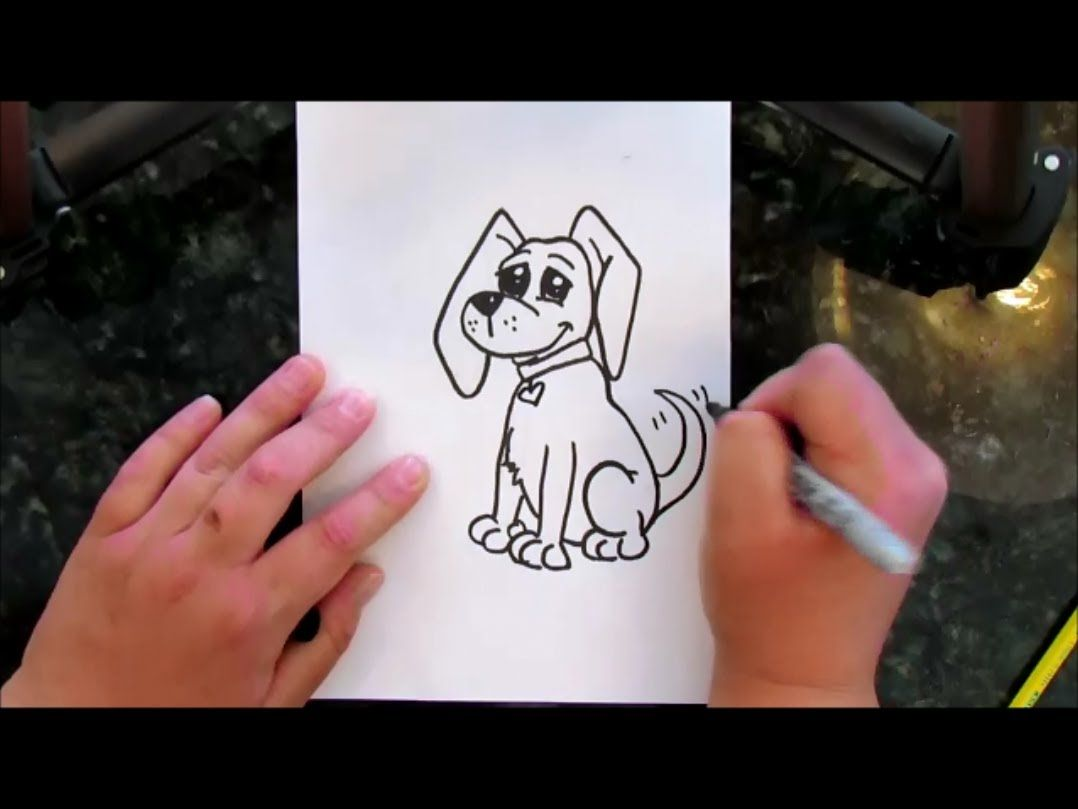 How To Draw A Dog Youtube Clips Pinterest Studios, Cartoon How To Draw A Dog