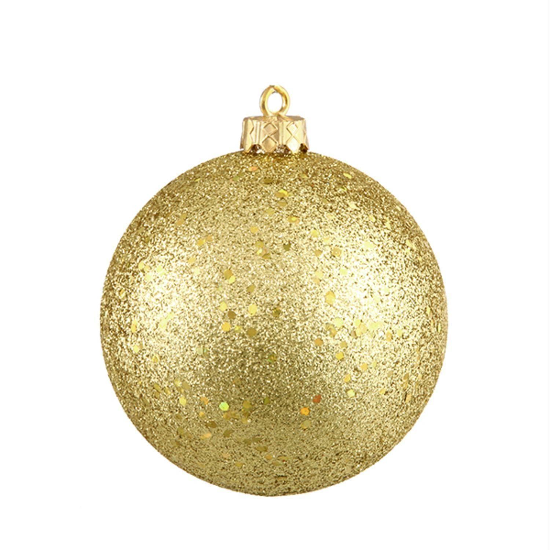 Vegas Gold Holographic Glitter Shatterproof Christmas Ball