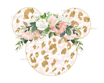 Photo of Floral Mouse Ears Sublimation, Floral Minnie, Minnie mouse, Digital image, Minnie Sublimation Design, Mickey Mouse, Disney flower png, jpg
