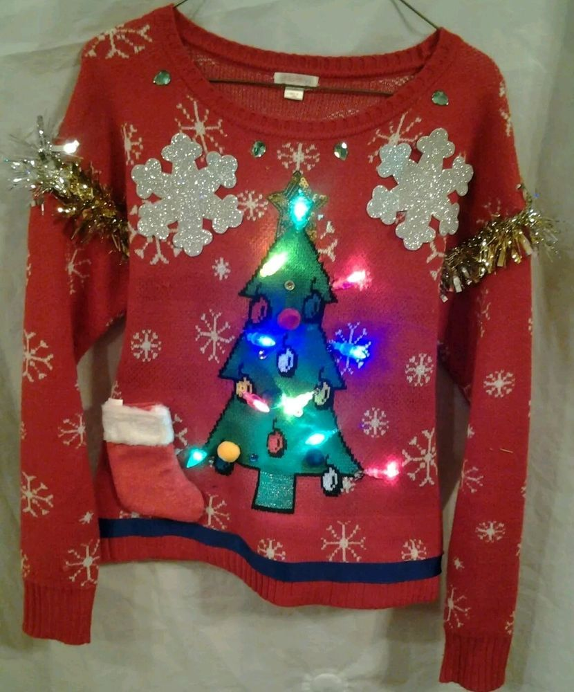 ab762254733 Ugly Christmas Sweater with Lights