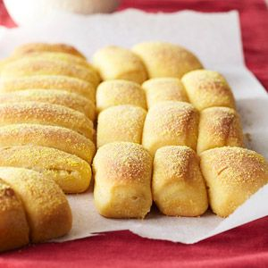 Pull-Apart Cornmeal Dinner Rolls From Better Homes and Gardens, ideas and improvement projects for your home and garden plus recipes and entertaining ideas.
