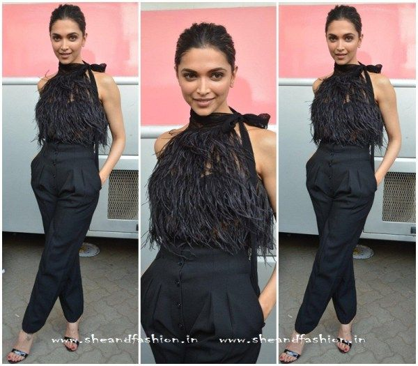 Deepika Padukone In Jumpsuit For Vogue Chat Show Vistara Event Celebrity Style Indian Celebrities Fashion