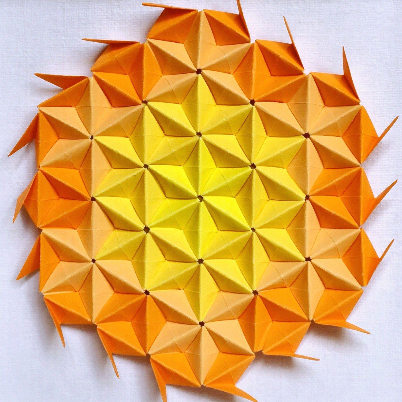 Summer Flower Origami Wall Art, Flower Paper Wall Art, 3D Origami ...