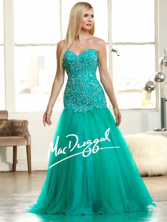 Emerald Ball Gown   Mermaid Prom Dress   Mac Duggal 48211H   DRESS ...