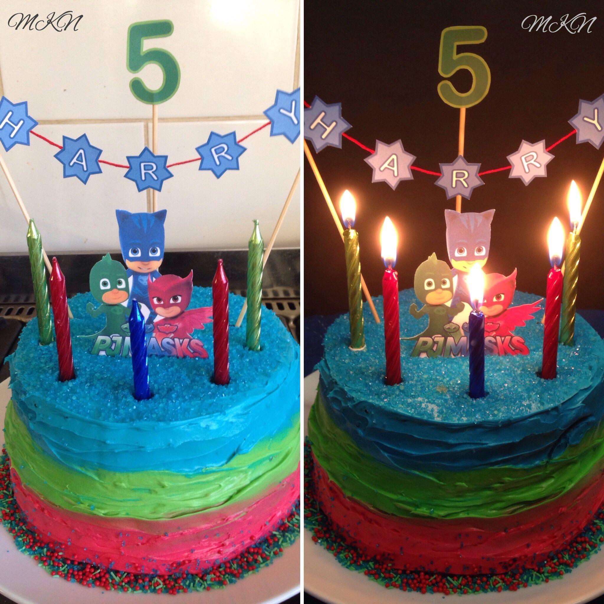 Pj Masks Birthday Cake Fifth Birthday Cake 5th Birthday