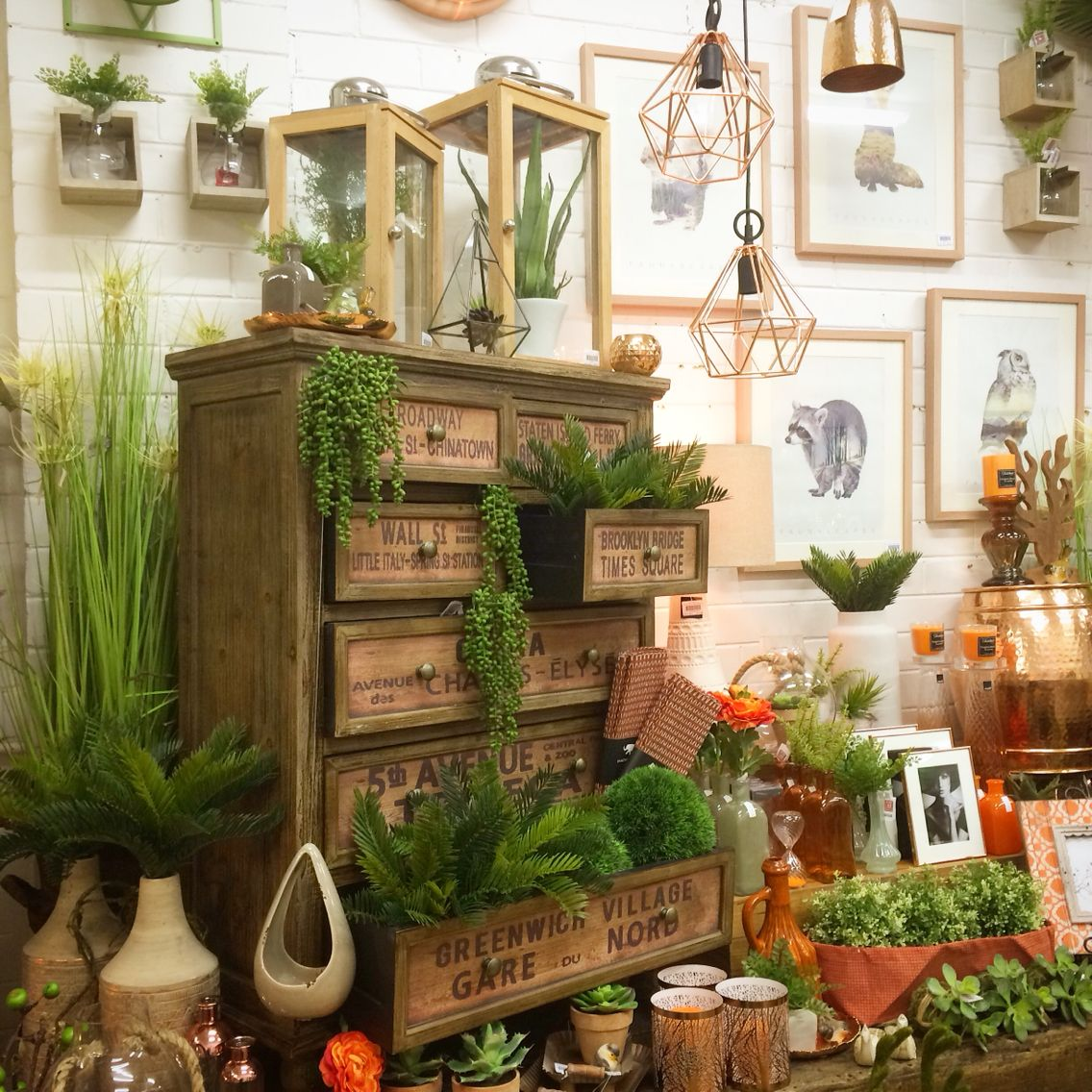 Orange And Copper Shop Display. Home Decor, Interiors
