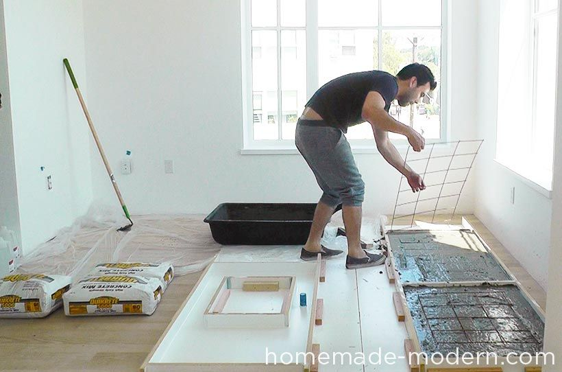 Homemade Modern Diy Ep87 Concrete Kitchen Countertops Step 10
