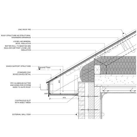 Image Result For Zinc Roof Construction Details Zinc Roof Roof Architecture Terracotta Roof
