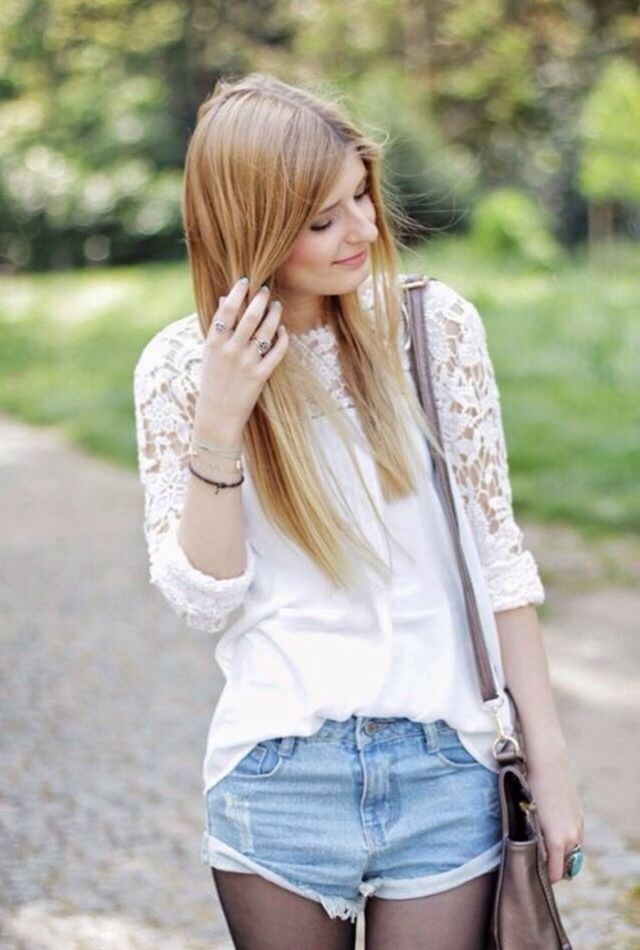 Blusa blanca en encaje