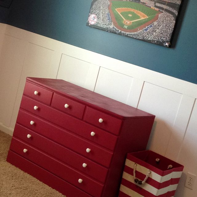 Factory Paint Decorating Color Filled Nurseries: Red Dresser Redo. Awning Red Paint