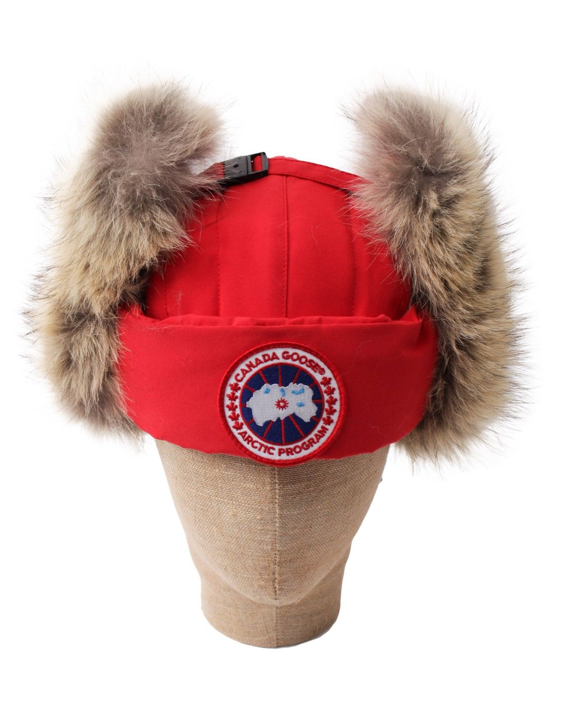 canada goose aviator hat red