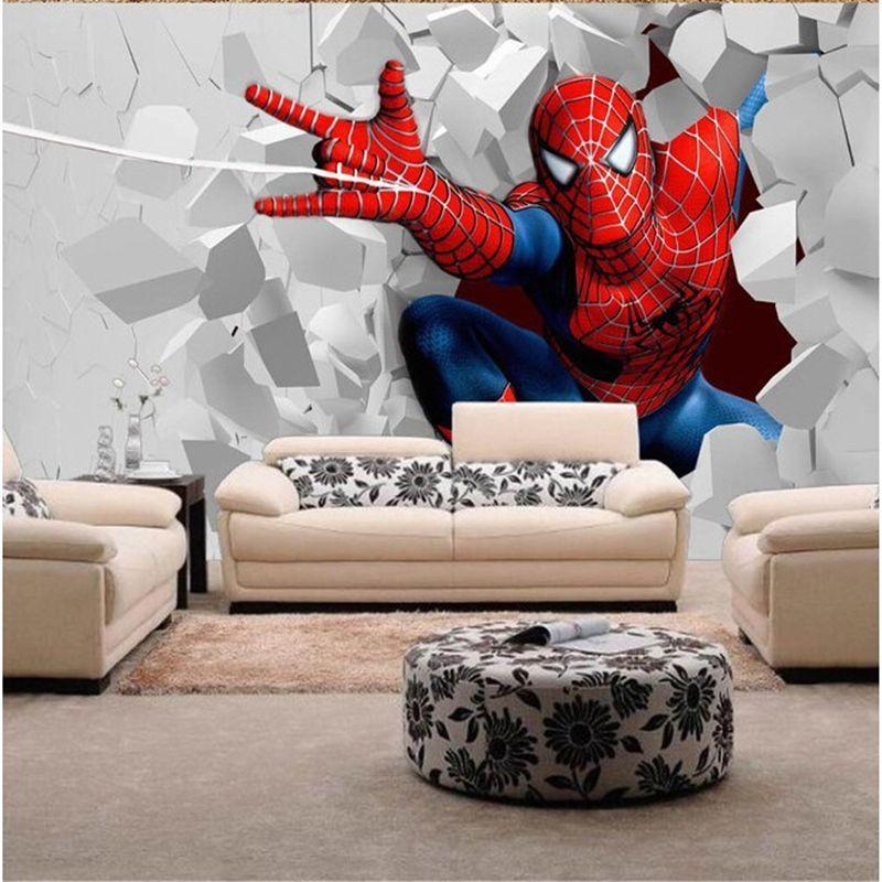 Best Beibehang Custom Children Mural Spider Man For Children 400 x 300