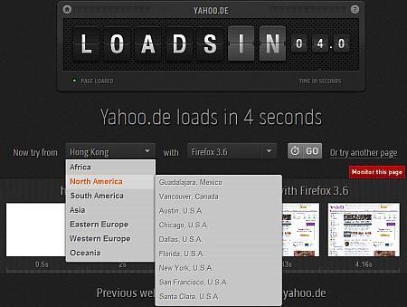 Loads In - Teste die Ladezeit deiner Website von weltweiten Standorten aus