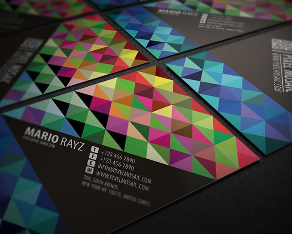 Pixel mosaic business card immediately catch peoples attention with pixel mosaic business card immediately catch peoples attention with this loud design for those who colourmoves