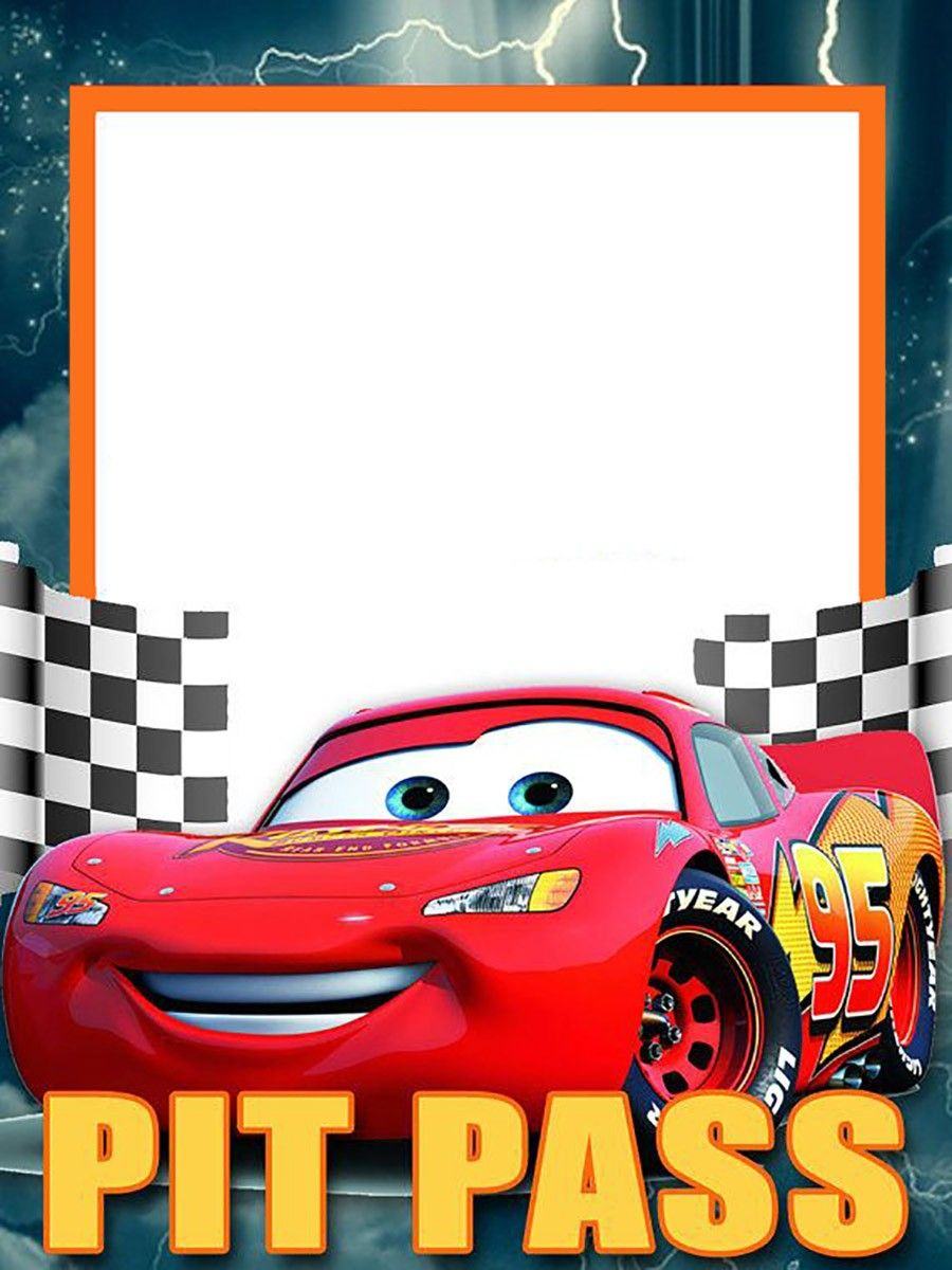 Cars Invitation Card Template Free: Lightning McQueen Invitation Template Free