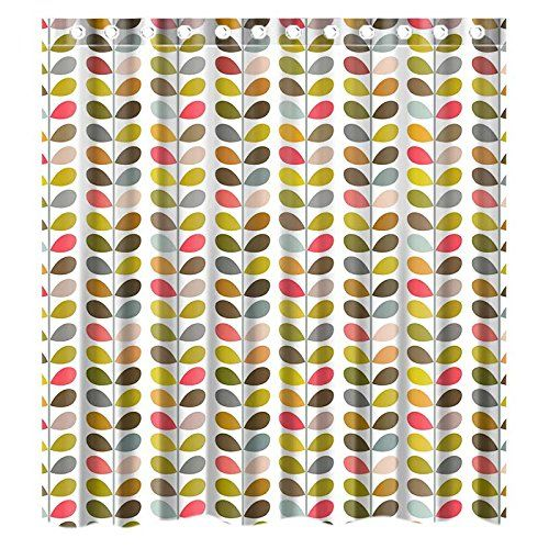 Colorful Fabric Shower Curtains