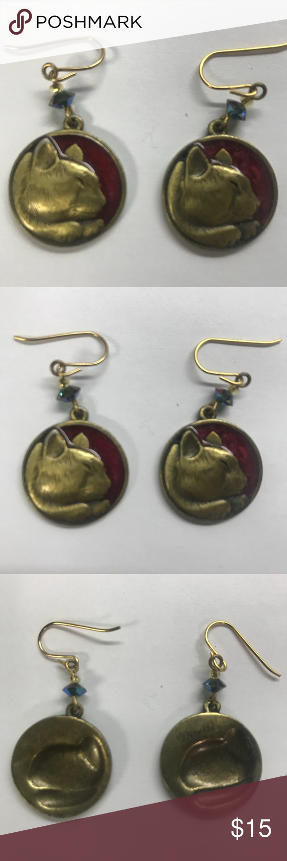 Vintage Edgar Berebi Cat Earrings These Sweet Kitties Are From The 1980 S