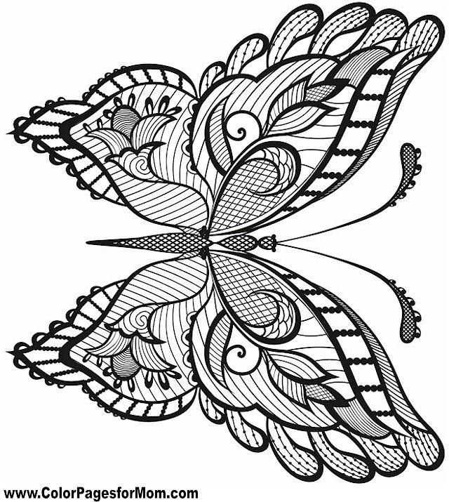 Butterfly Coloring Page 38 Dibujos Libros Para Colorear