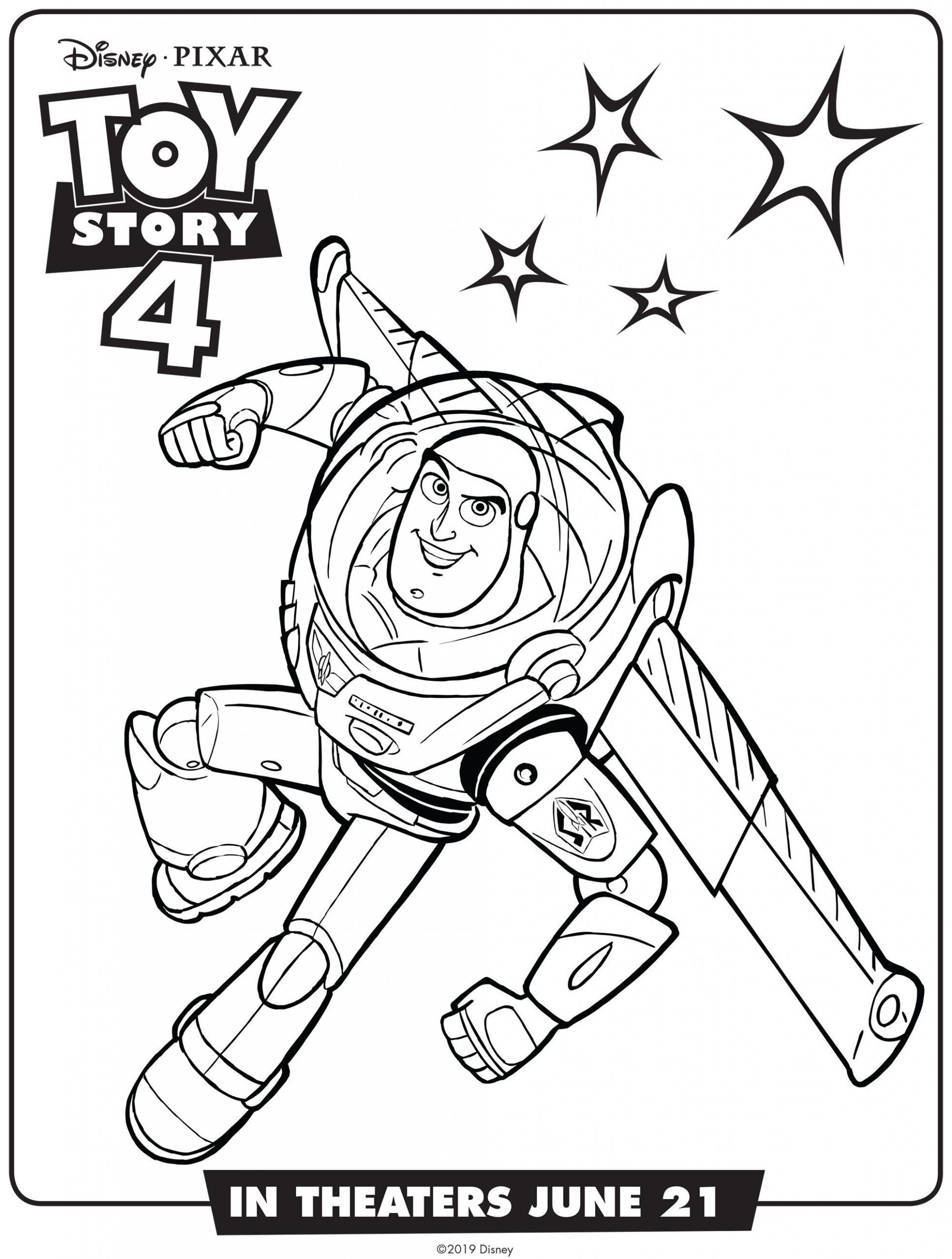 Toy Story Coloring Page Buzz Lightyear Toy Story 4 Coloring Page Disney Pixar In 2020 Toy Story Coloring Pages Disney Coloring Pages Coloring Books