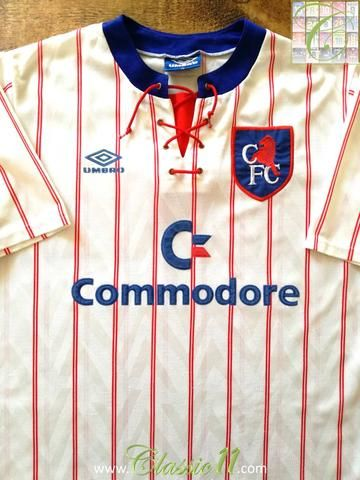 19b229abe Official Umbro Chelsea away football shirt from the 1992 1993 season.