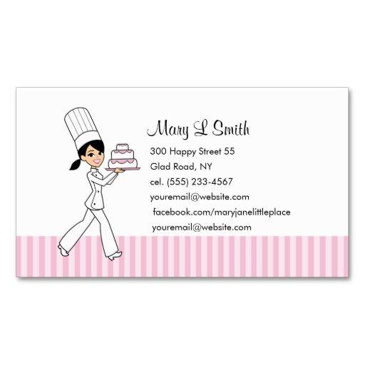 Custom Baker Calling Card Zazzle Com Pretty Business Cards Customizable Business Cards Templates Custom Business Cards