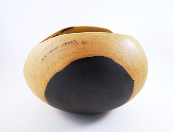 Wood Bowl No120905  Cocobolo Natural Edge by conreysa on Etsy, $85.00