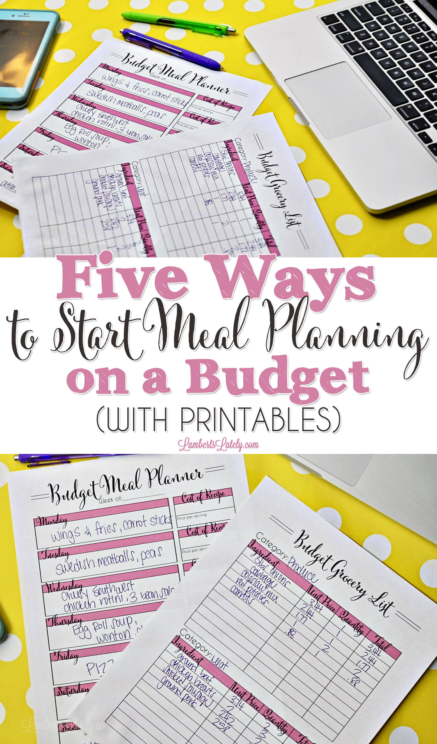 Five Ways To Start Meal Planning On A Budget With