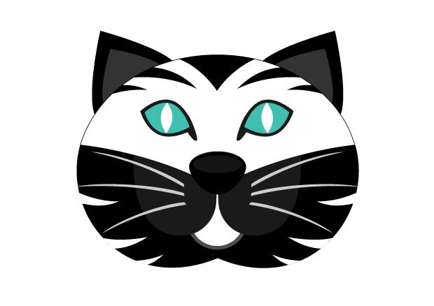 Masque De Chat Couleur Noir Et Blanc Pour Le Carnaval Imprimer Ce