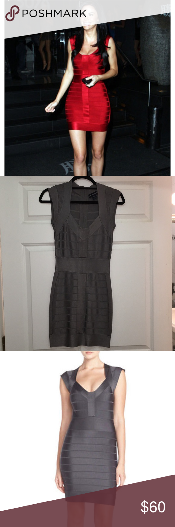 19114d76d2b Grey bandage bodycon dress French Connection bandage dress in grey. Worn a  few times and