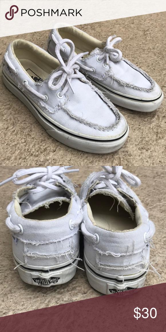 vans canvas boat shoes