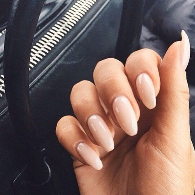 Nude Nails Tanned Skin