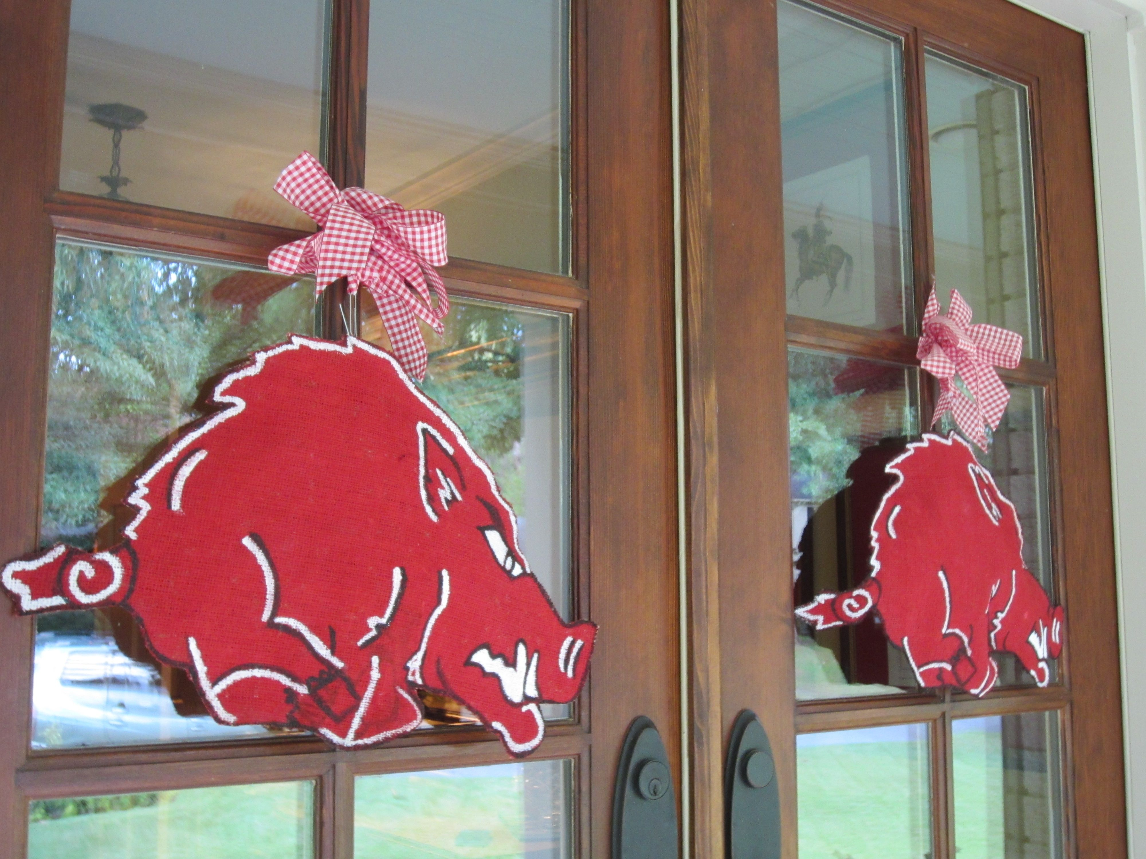 on sale door pin etsy something for razorbacks com razorback decor arkansas