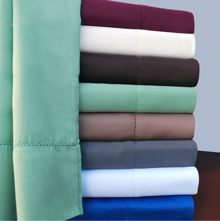 600TC Cotton Rich Hem Stitch Sheet Sets with Extra Pilowcase by Impressions