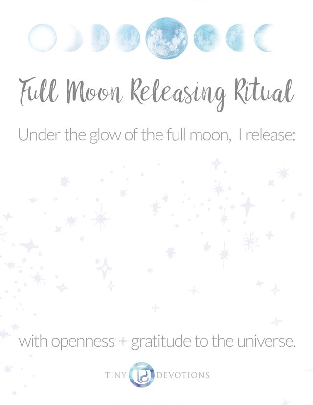Let Go  Release Printable Full Moon Releasing Ritual On Blog