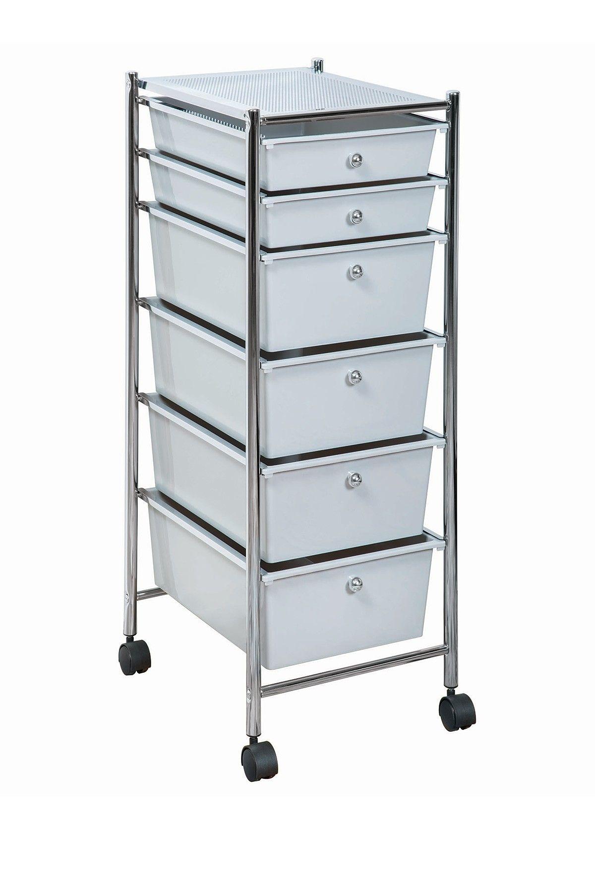 Chrome frame drawer cart by richards on hautelook decorhome
