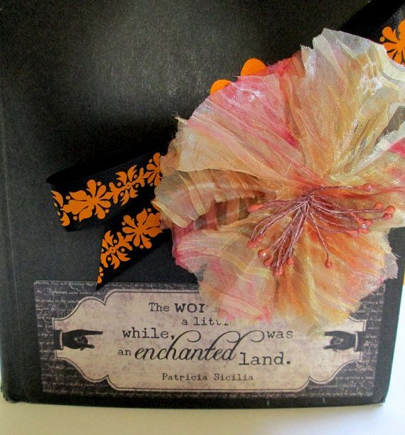Altered Art Book  Enchanted  October by BelleArticlesElegant, $31.89