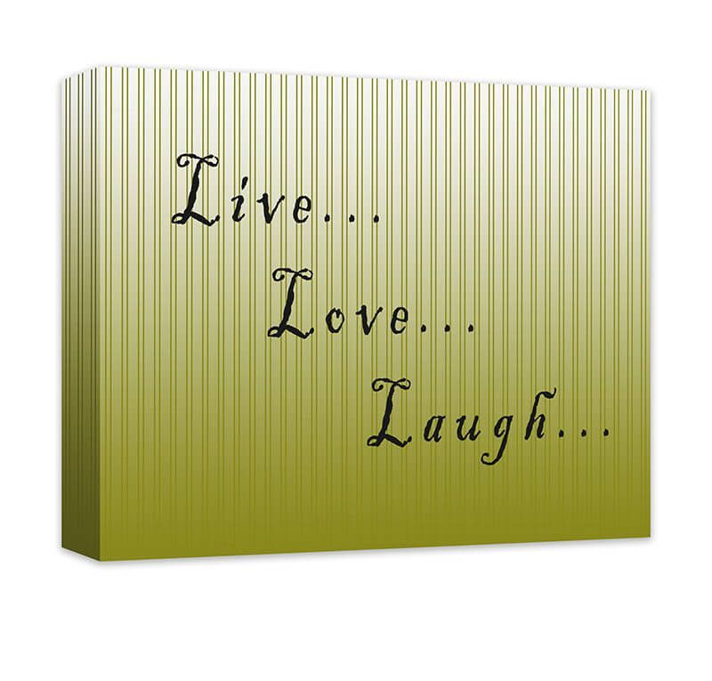 Live Love Laugh I Canvas Wall Art | Word art design, Canvases and Artist