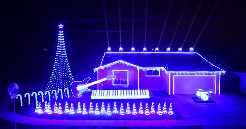 The Force is strong with this homemade Star Wars Christmas light