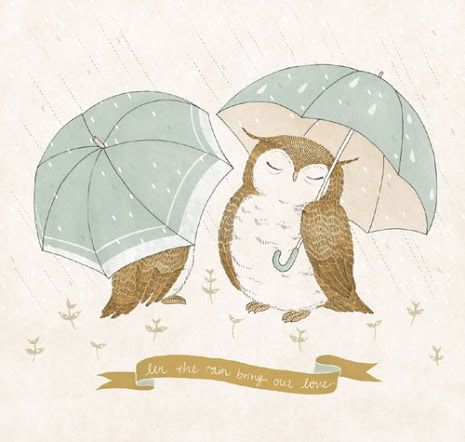 Pinzellades al món: Obri el paraigües. Plou! / Abre el paraguas. Llueve! / She opened the umbrella. Rain!