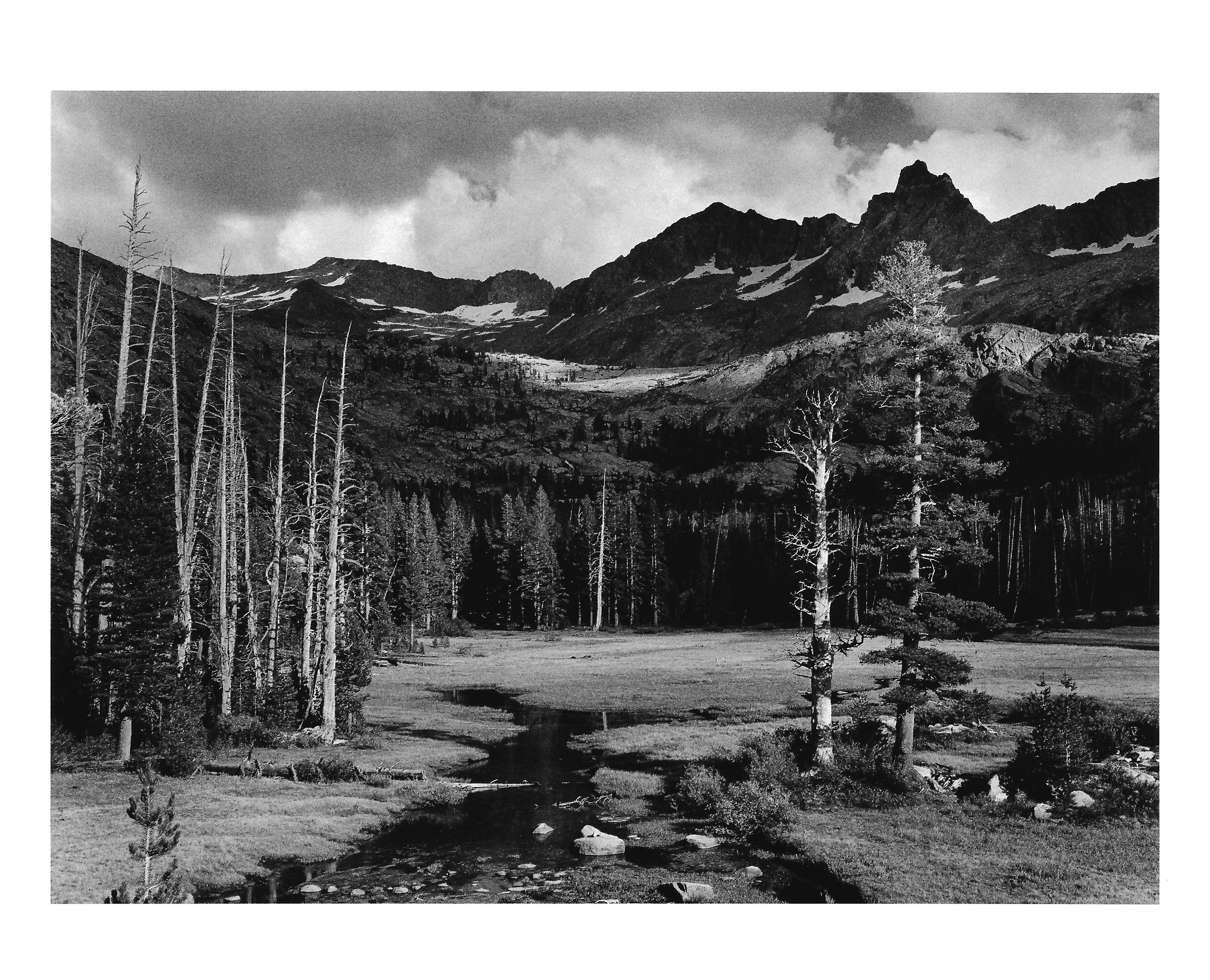 Ansel Adams. Mount Ansel Adams, Lyell Fork of the Merced river, 1935 ...