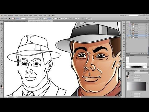 Drawing And Coloring Tutorial For Adobe Illustrator Photoshop Illustrator Adobe Illustrator Adobe Illustrator Tutorials
