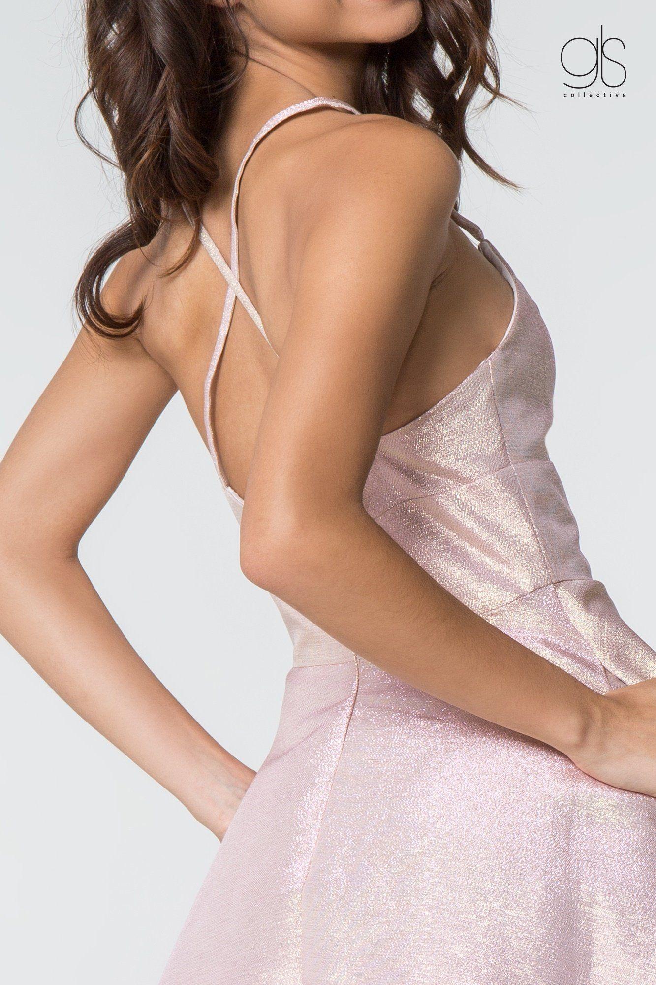 Elizabeth K - GS2838 V-Neck Sleeveless A-Line Cocktail Dress