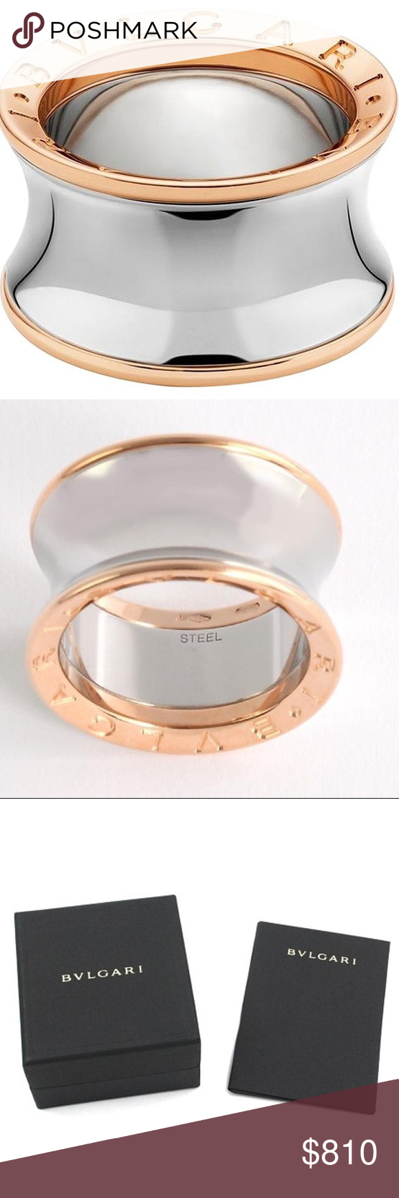 bvlgari anish kapoor rose gold steel ring bvlgari anish kapoor rose gold steel ring gender women material rose gold ring size u0026 8 item comes with an