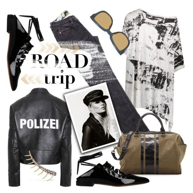 """Road to ..?"" by edita1 ❤ liked on Polyvore featuring Vetements, Neiman Marcus, Givenchy, Linda Farrow, Ileana Makri and roadtrip"