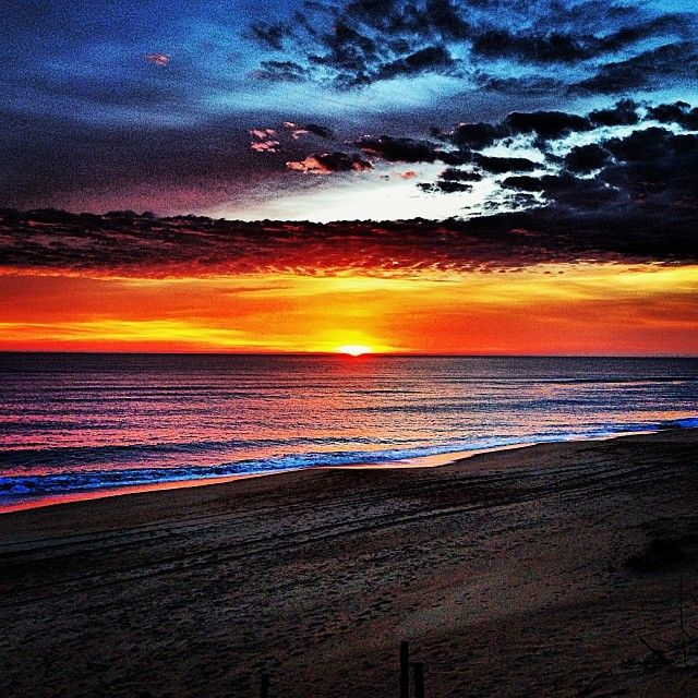Beautiful sunrise on the beach in Nags Head, North