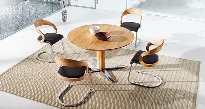girado Esszimmertisch ist als Fixtisch oder Auszugstisch mit einhändig bedienbarer 2soft Technik erhältlich.