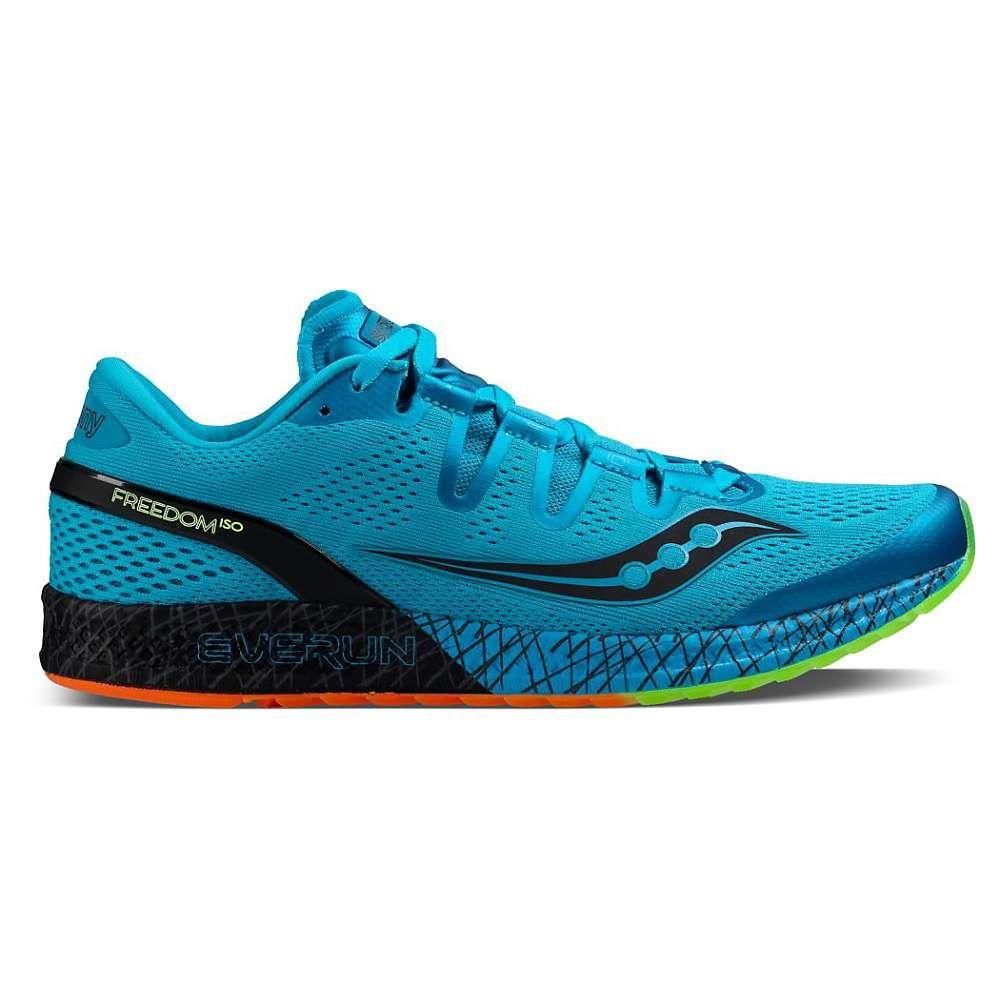 Saucony Men S Freedom Iso Shoe 10 Blue Black Citron