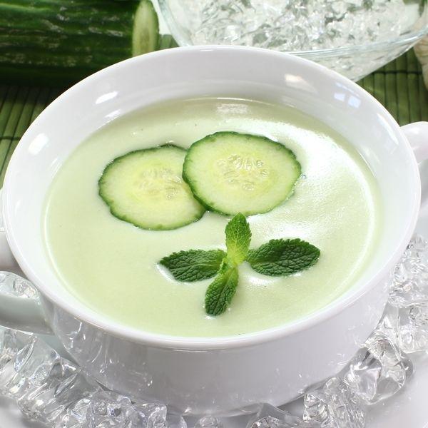 نتيجة بحث الصور عن Minted Cucumber Soup