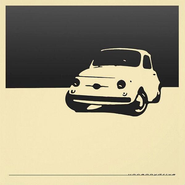 Fiat Classic Italian Car Artwork For Sale Artwork