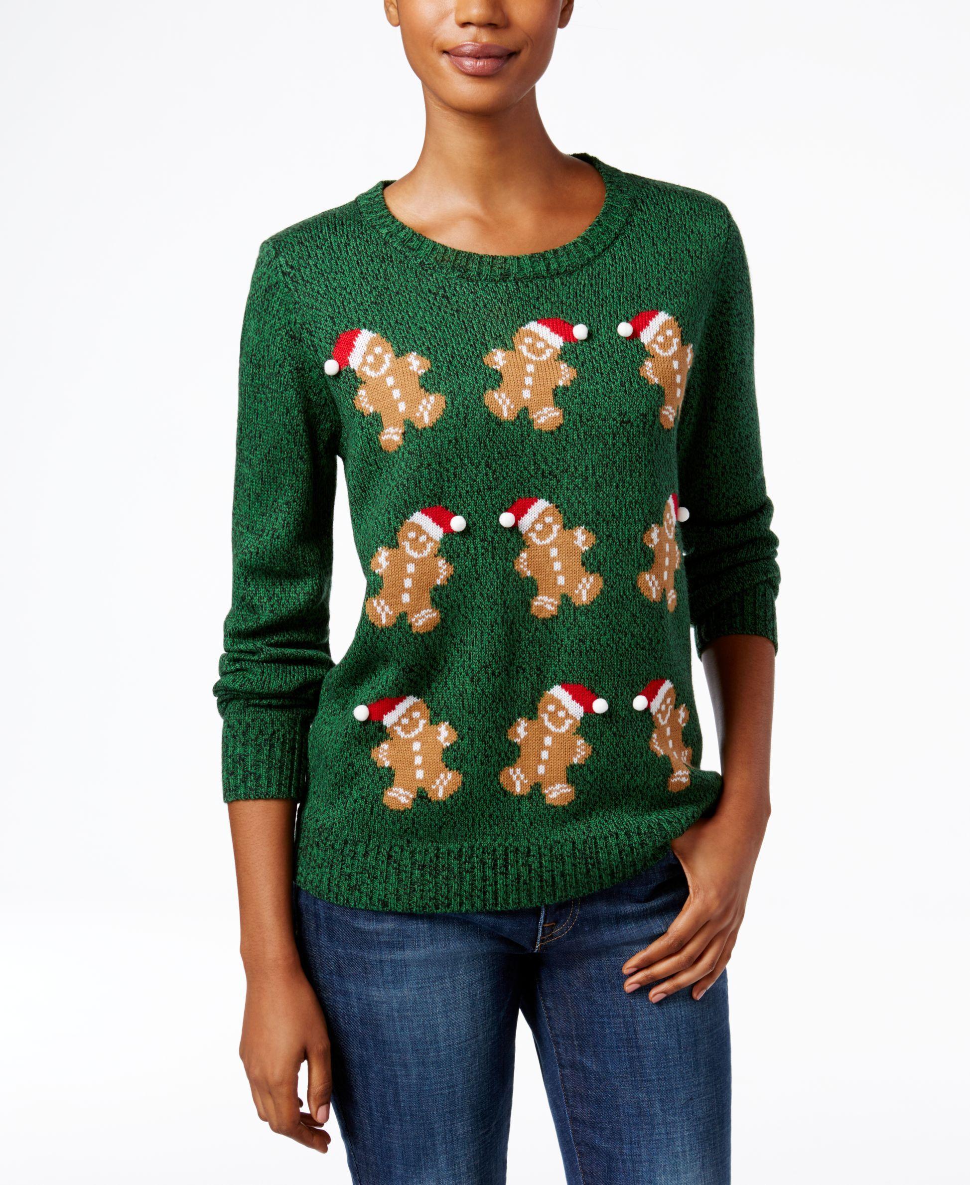 Macys Christmas Sweaters.Karen Scott Gingerbread Man Christmas Sweater Only At